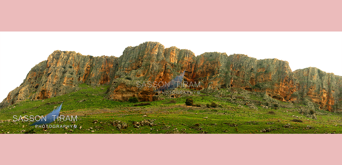 The Arbel cliffs facing the Sea of Galilee in Israel